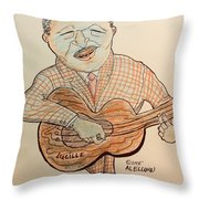 The Blues Man  Throw Pillow