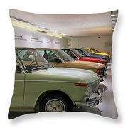 The Bmw Line Up Throw Pillow