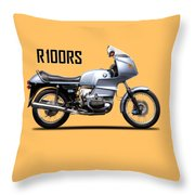 The R100rs Motorcycle 1977 Throw Pillow