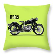 The R50s Motorcycle Throw Pillow