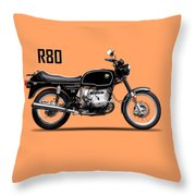 The R80 Motorcycle 1978 Throw Pillow