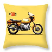 The R90s Motorcycle 1974 Throw Pillow