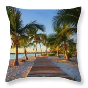 The Board Walk Throw Pillow