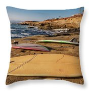 The Boards Throw Pillow