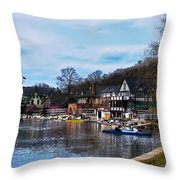 The Boat House Row Throw Pillow