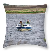 The Boater Throw Pillow
