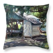The Boathouse At Historic Spanish Point Park, Osprey, Fl Throw Pillow