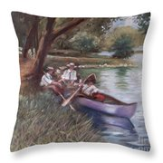 The Boating Men Throw Pillow