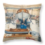 The Boatman Throw Pillow