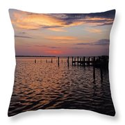 The Boatman's Banter Throw Pillow