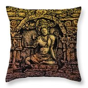 The Bodhisattva Samantabhadra Borobudur Java Throw Pillow