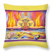 The Body Wave Throw Pillow