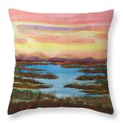 The Bog Throw Pillow