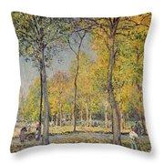 The Bois De Boulogne Throw Pillow