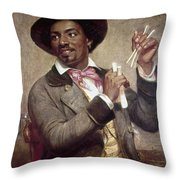 The Bone Player, 1856 Throw Pillow