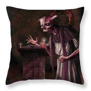 The Bone Priest Throw Pillow