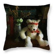 The Book Bear Throw Pillow