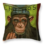 The Book Of Chimps Throw Pillow