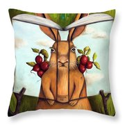 The Book Of Secrets 4-the Rabbit Story Throw Pillow