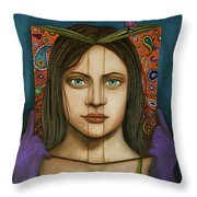 The Book Of Secrets With Paisley Throw Pillow