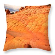 The Boot And The Butte Throw Pillow