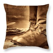 The Boots Throw Pillow