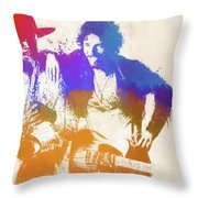 The Boss And The Big Man Throw Pillow