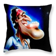 The Boss Throw Pillow by Rick Baldwin