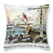 The Boston Tea Party, 1773 Throw Pillow