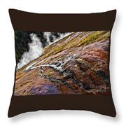 The Bottom Of Midway Geyser Basin Throw Pillow