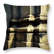 The Bottom Of The Pillar Of The Old Building Throw Pillow
