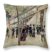 The Boulevard Montmartre And The Theatre Des Varietes Throw Pillow