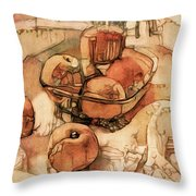The Bountiful Feast - Asian Pears Throw Pillow