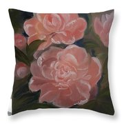 The Bouquet Of Peonies Throw Pillow