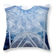 The Bow Building Throw Pillow
