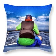 The Bow Rider Throw Pillow