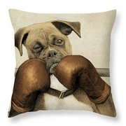 The Boxer Throw Pillow