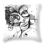 The Boxer Throw Pillow by Nicholas Burningham