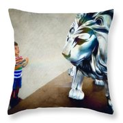 The Boy And The Lion 10 Throw Pillow