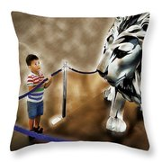The Boy And The Lion 13 Throw Pillow