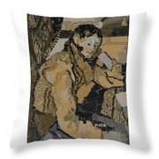 The Boy In The Red Waistcoat Throw Pillow