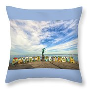 The Boy On The Seahorse Throw Pillow
