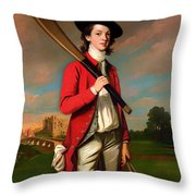 The Boy With A Bat - Walter Hawkesworth Fawkes Throw Pillow