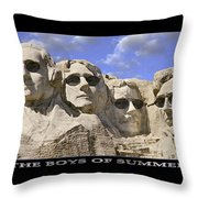The Boys Of Summer Throw Pillow