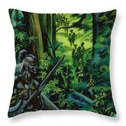 The Braddock Expedition Throw Pillow