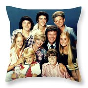 The Brady Bunch Throw Pillow