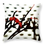 The Branches Naked By Wind And Rain. Throw Pillow