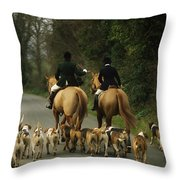 The Bray Harriers, Co Wicklow, Ireland Throw Pillow