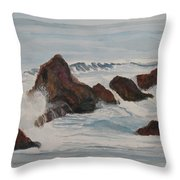The Breakers At Seal Rock II Throw Pillow