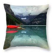 The Breathtakingly Beautiful Lake Louise Banff National Park Throw Pillow